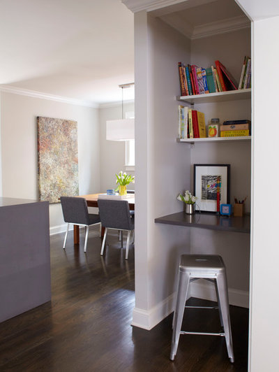 Contemporary Home Office by Mark Williams Design Associates