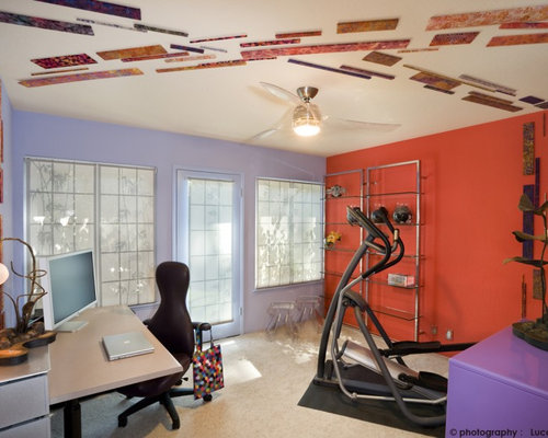 Home office and gym design ideas pictures remodel