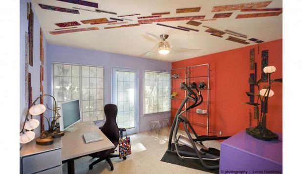 Contemporary Home Office by Susan Diana Harris Interior Design