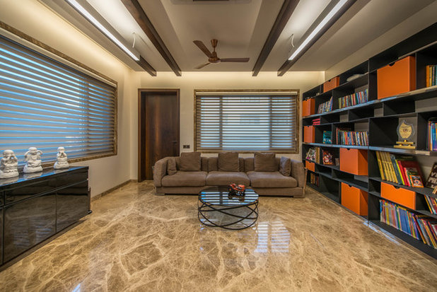 Modern Home Office by Ricken Desai Photography