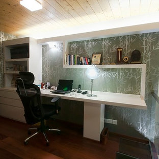 Home office - zen home office idea in Indianapolis