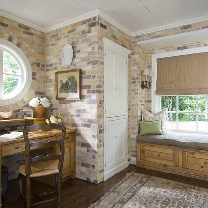 Traditional Home Office by Katie Emmons Design
