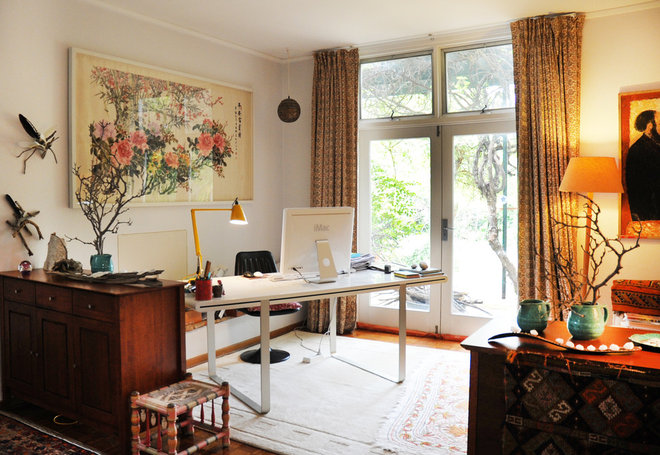 Eclectic Home Office by Luci.D Interiors