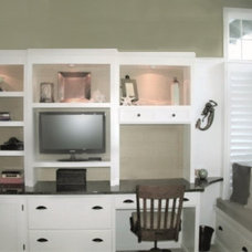 Traditional Home Office by Lily-Max Designs