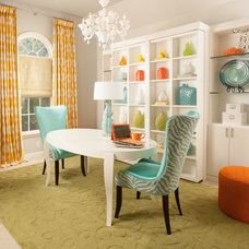 Transitional Home Office by Decorating Den Interiors --The Sisters & Company