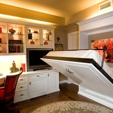 Traditional Home Office by Texas Custom Closets
