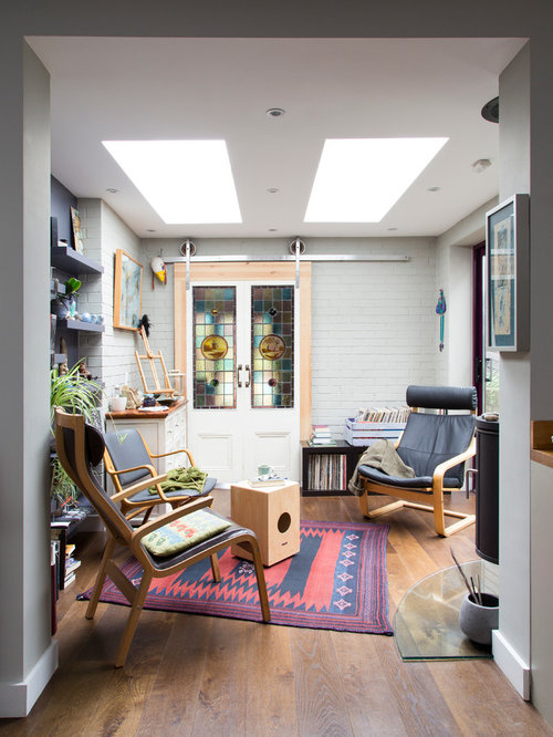 30 Trendy Eclectic Home Office and Library Design Ideas - Pictures ...