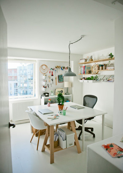 Scandinavian Home Office & Library by Apartment Apothecary