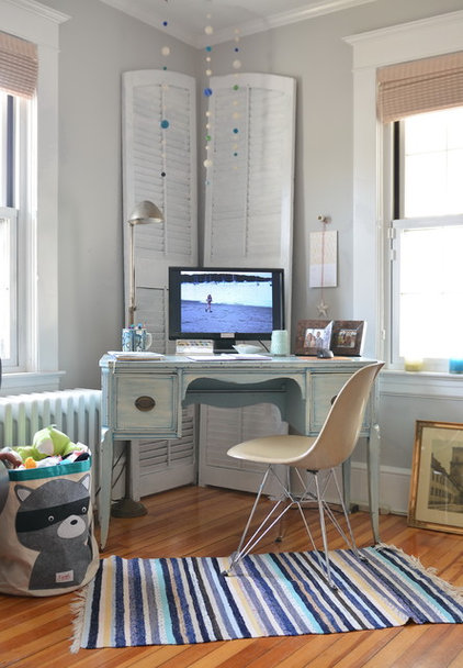 eclectic home office by Kelly Donovan
