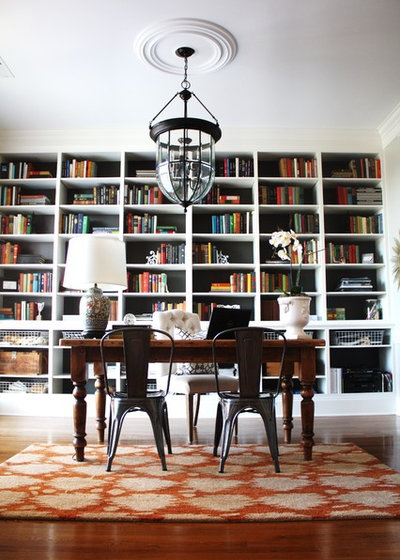 Eclectic Home Office & Library by Emily A. Clark
