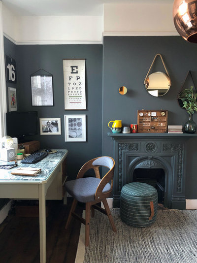 Transitional Home Office & Library by Design Soda