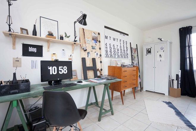 Happy Home Office Ideas: Houzz Tour: Happy, Thrifty Family Home In France