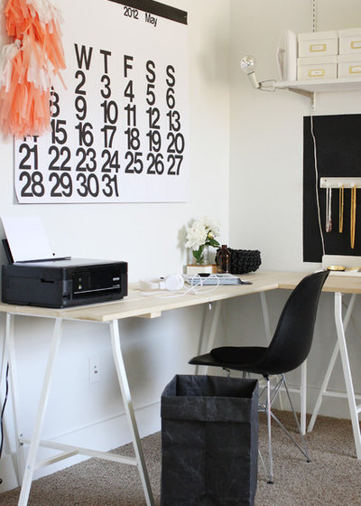 Scandinavian Home Office & Library by amerrymishap.com