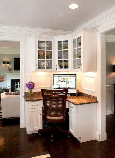 Traditional Home Office by Mary Prince Photography