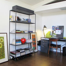 Midcentury Home Office by Tara Bussema - Neat Organization and Design
