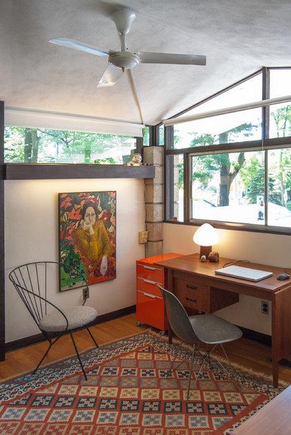 Midcentury Home Office by Adrienne DeRosa