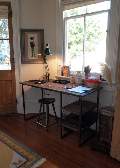 Great Eclectic Home Office by Kayla Stark