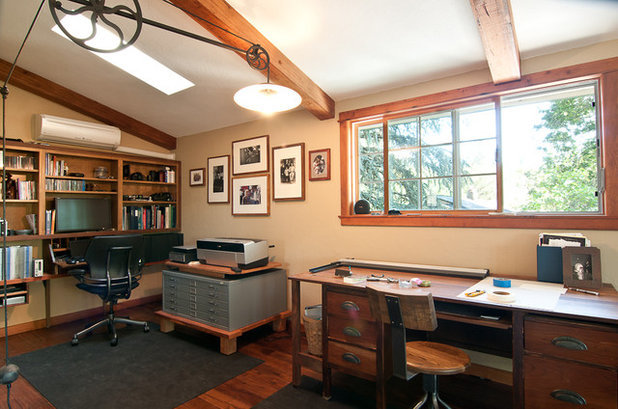 Traditional Home Office by Louise Lakier