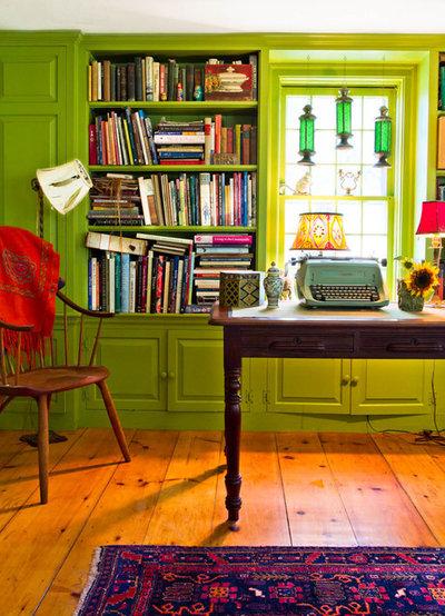 カントリー ホームオフィス・仕事部屋 by Rikki Snyder