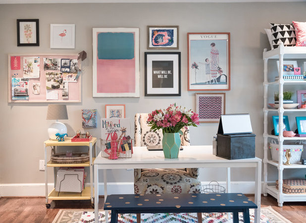 Transitional Home Office by Hado Photo