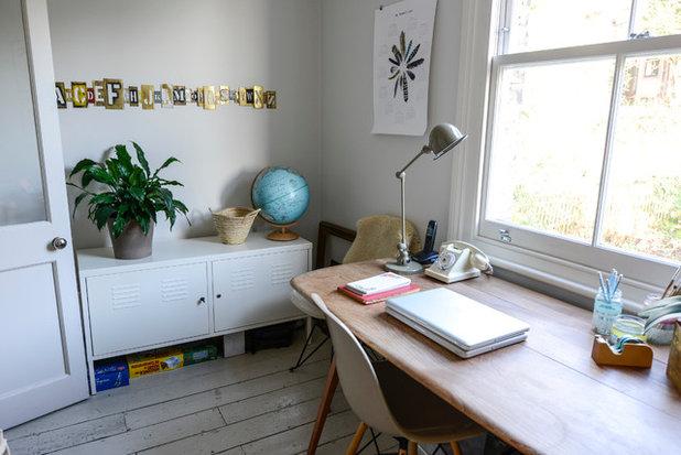 Eklektisch Arbeitszimmer My Houzz: Casual Comfort in a London Victorian