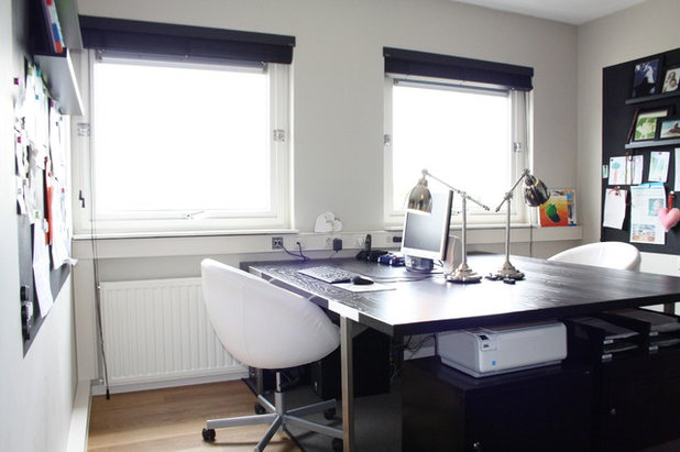 family home office. contemporary home office by holly marder family