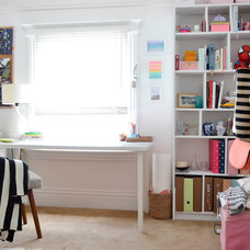 Eclectic Home Office by Planning Pretty