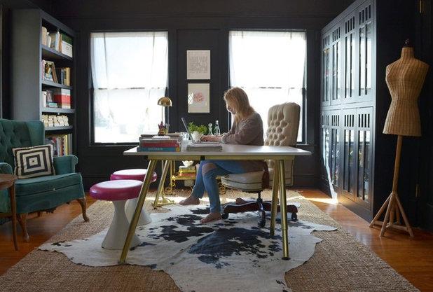 エクレクティック ホームオフィス・仕事部屋 by Sarah Greenman
