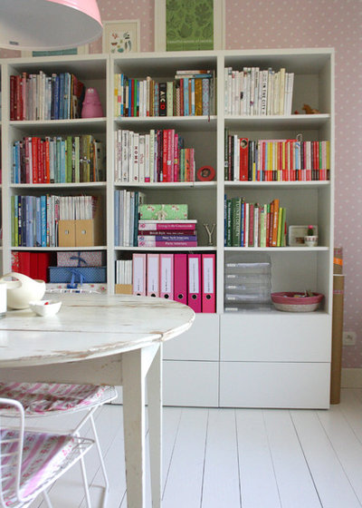 Shabby-chic Style Home Office by Holly Marder