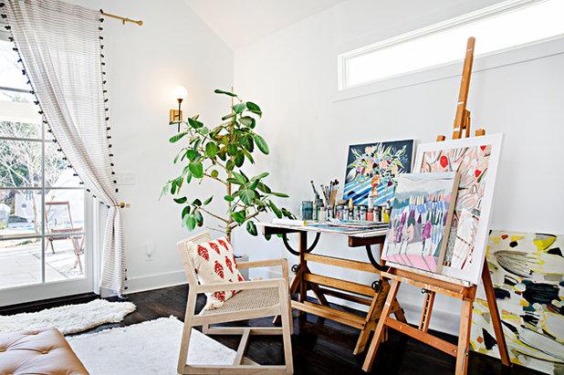 Shabby-chic Style Home Office by Caroline Sharpnack