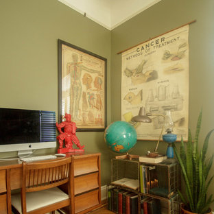 Inspiration for an eclectic home office in New York.
