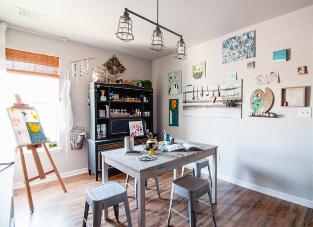 Farmhouse Home Office by Alexandra Crafton