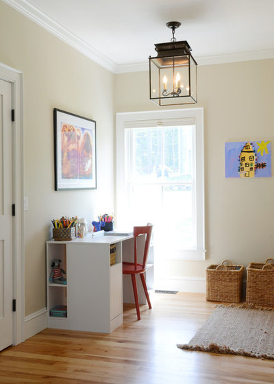 Transitional Home Office By Design Fixation Faith Provencher