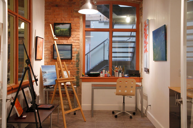 Best Industrial Home Office by Esther Hershcovich