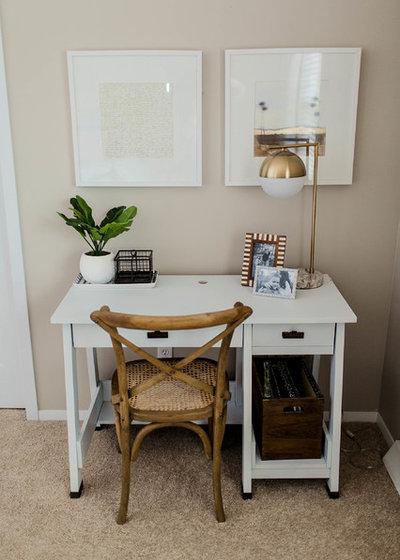 Traditional Home Office by Kaia Calhoun