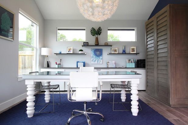 Contemporary Home Office by Kristin Laing