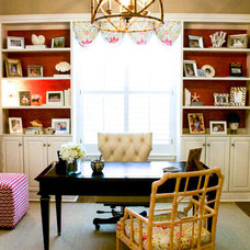 Traditional Home Office by Mina Brinkey