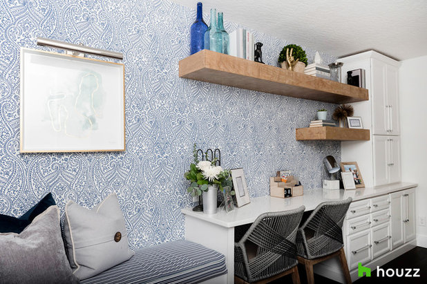 Transitional Home Office by Motivo Home
