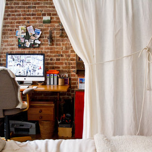 Inspiration for an eclectic freestanding desk study room remodel in New York