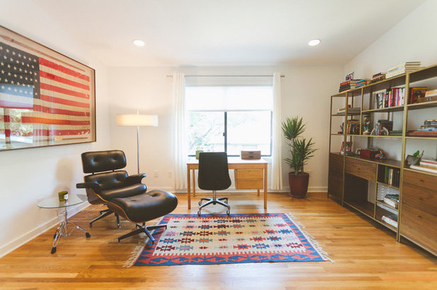 Midcentury Home Office by Heather Banks