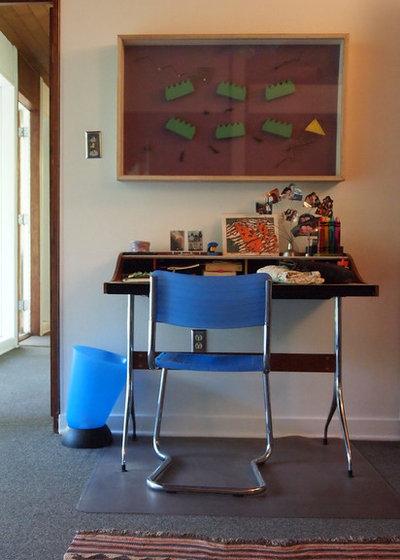 Nice Midcentury Home Office by Kayla Stark