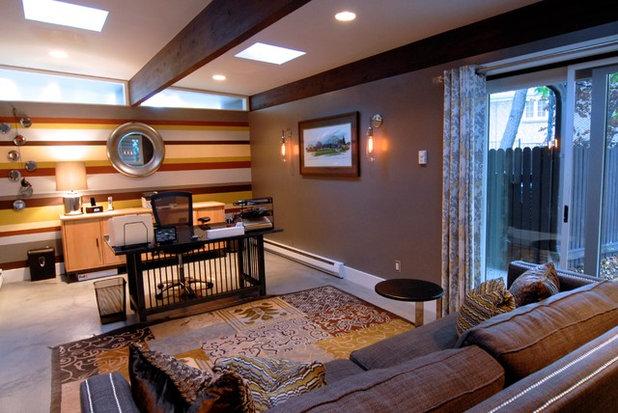 Good Midcentury Home Office by Brenda Olde