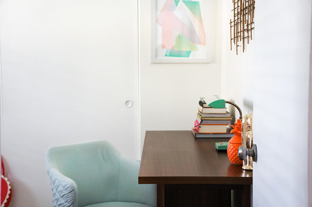 Midcentury Home Office by STRUKTR Studios Photography