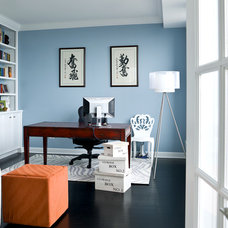 transitional home office by Cynthia Lynn Photography