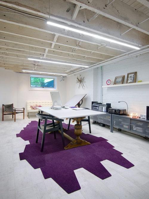 basement office houzz