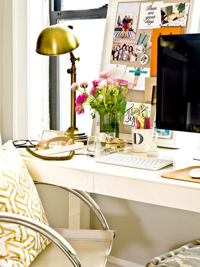 Eclectic Home Office by Cynthia Lynn Photography