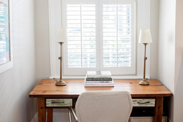 Traditional Home Office by Margaret Wright Photography