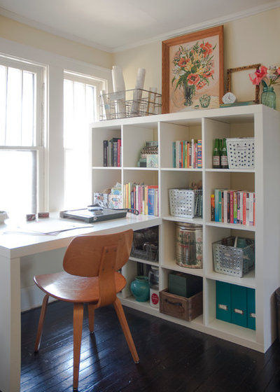 Eclectic Home Office by Adrienne DeRosa
