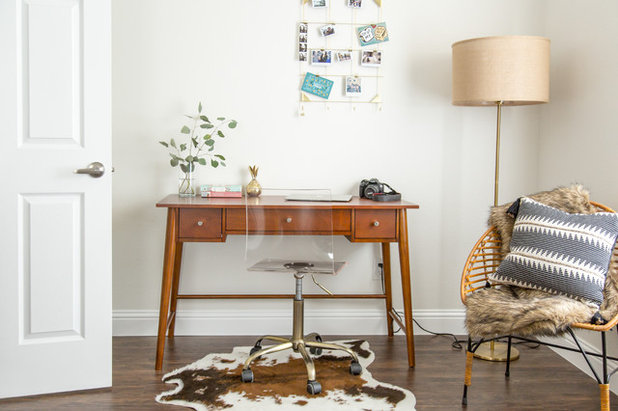 Midcentury Home Office by Angela Flournoy