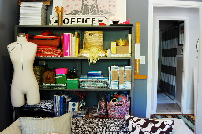 Eclectic Home Office by Corynne Pless